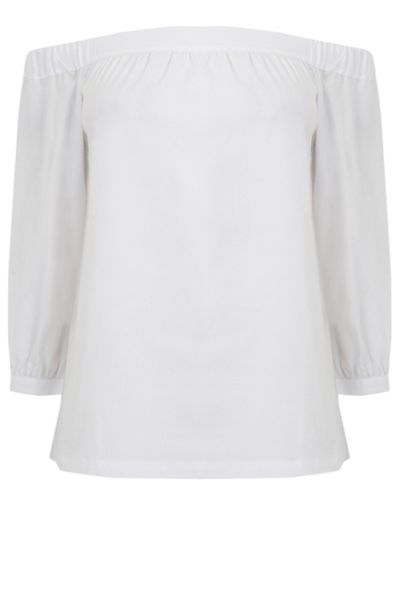 Warehouse Off Shoulder Cotton Top