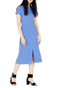 Warehouse Split Front Midi Dress