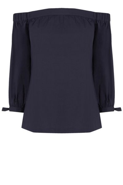 Warehouse Cotton Off The Shoulder Top