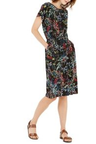 Warehouse Meadow Floral T Shirt Dress