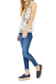 Warehouse Meadow Floral Woven Front Top
