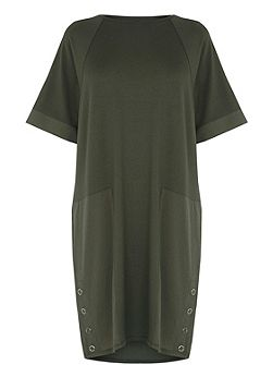 Woven Mix Panel Dress