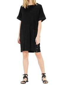 Warehouse Woven Mix Panel Dress