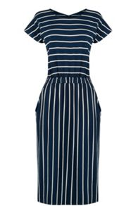 Warehouse Stripe T Shirt Dress