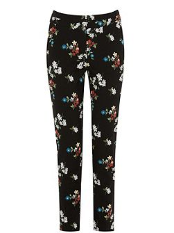 Spaced Floral Slim Trousers