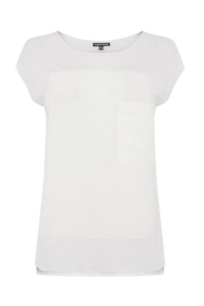Warehouse Pocket Woven Mix Tee