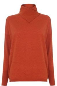 Warehouse Split Neck Batwing Jumper