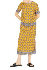 Warehouse Tile Print Column Midi Dress