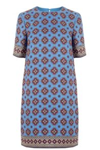 Warehouse Tile Print Shift Dress