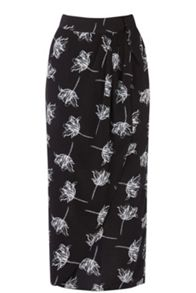 Warehouse Stencil Floral Skirt