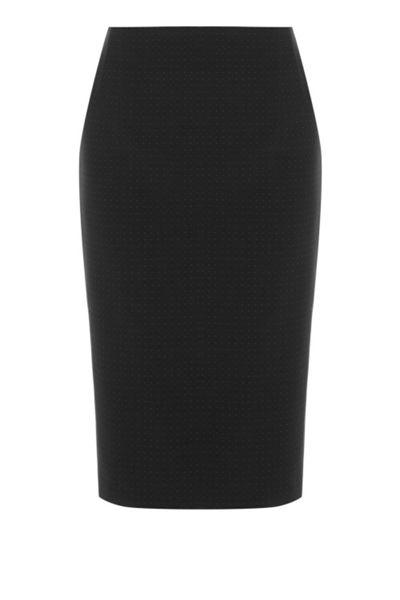 Warehouse Pinspot Pencil Skirt