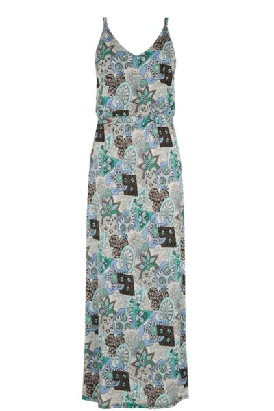 Warehouse 80S Tile Printed Midi Dress