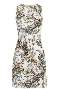 Warehouse Meadow Floraltextured Dress