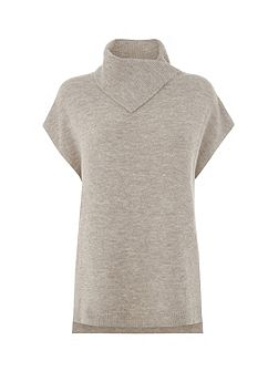 SPLIT NECK BOUCLE JUMPER