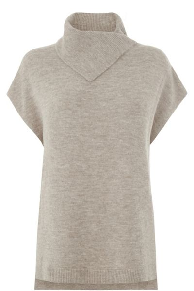 Warehouse Split Neck Boucle Jumper