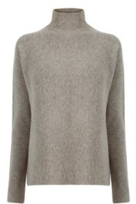 Warehouse Ribbed boxy turtleneck jumper