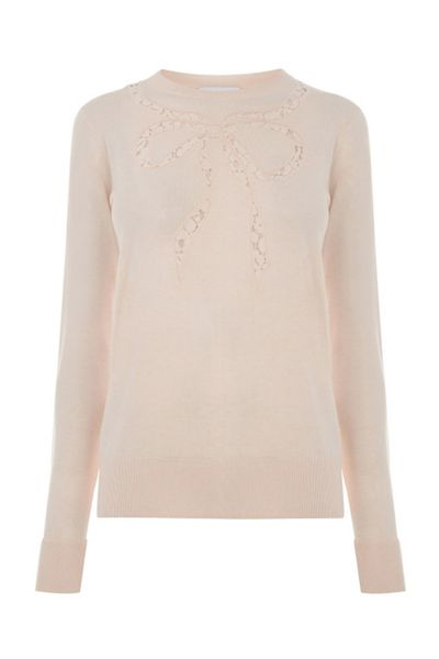 Warehouse Lace Bow Jumper