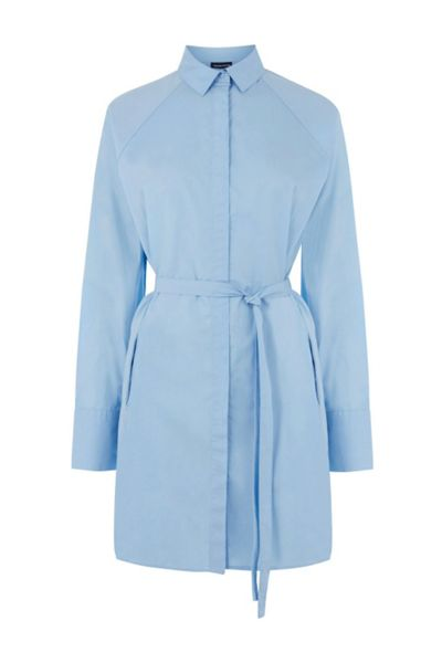 Warehouse Tie Waist Shirt Dress