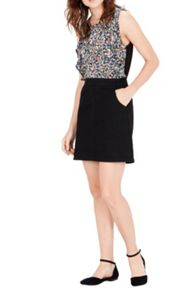 Warehouse Ditsy Ruffle Woven Fronttop