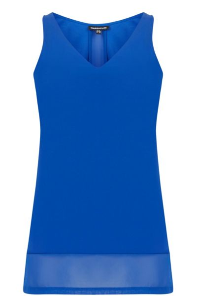 Warehouse Chiffon Detail Vest