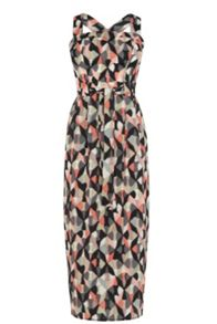 Warehouse Diamond Ikat Dress