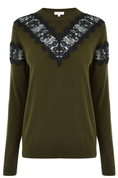 Warehouse Lace Insert Jumper