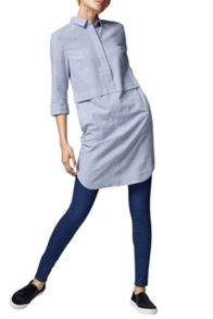 Warehouse Brushed Cotton Shirt Dress