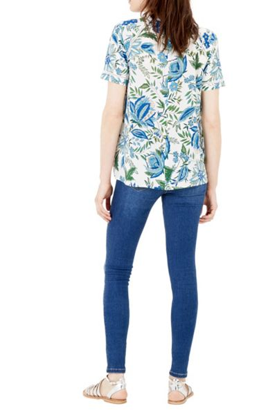 Warehouse Botanical Floral Trim Top
