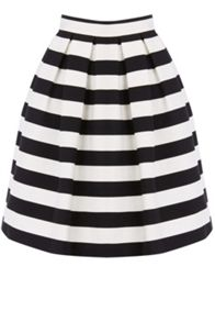 Warehouse Stripe Prom Skirt