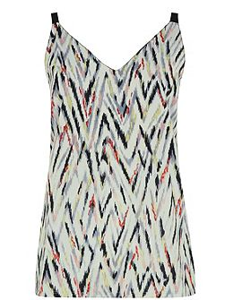 Zig Zag Woven Front Cami