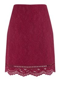 Warehouse Bonded Lace Pelmet Skirt