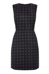 Warehouse Tile Jacquard Dress
