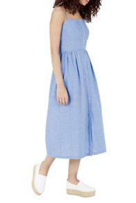 Warehouse Cotton Cami Midi Dress
