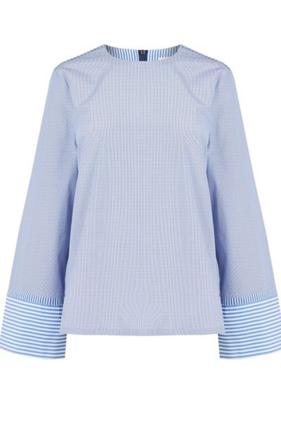 Warehouse Stripe Long Sleeve Top