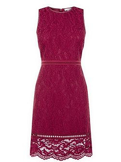 Bonded Lace Sleeveless Dress