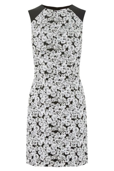 Warehouse Daisy Print Sleeveless Dress