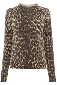 Warehouse ANIMAL PRINT JUMPER