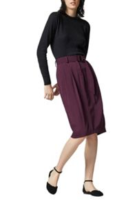 Warehouse D-Ring Crepe Skirt