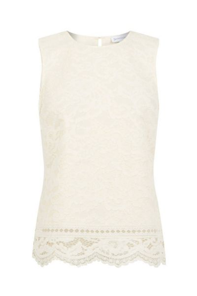 Warehouse BONDED LACE SHELL TOP