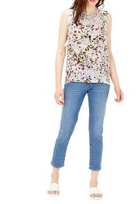 Warehouse Trailing Floral Ruffle Top