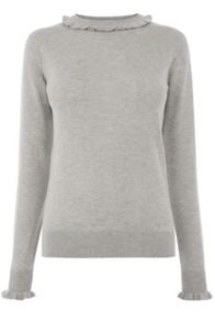 Warehouse Frill Neck And Cuff Jumper