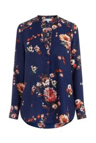 Warehouse PAINTED FLORAL BLOUSE