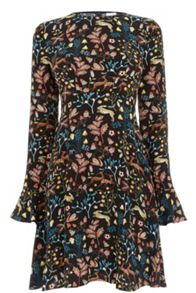 Warehouse Thistle Print Skater Dress