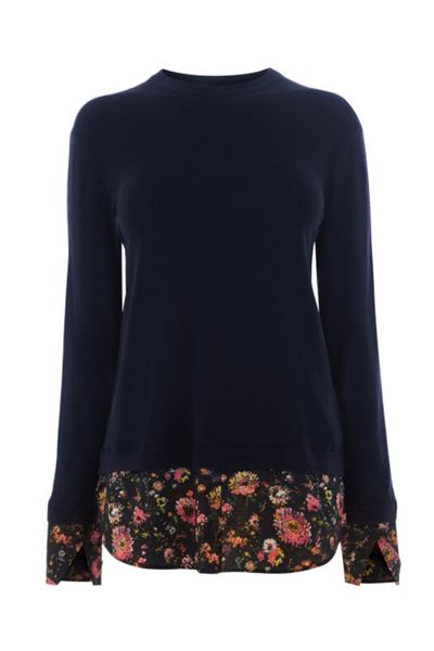 Warehouse PAINTED FLORAL HYBRID JUMPER