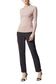 Warehouse Lace High Neck Jumper