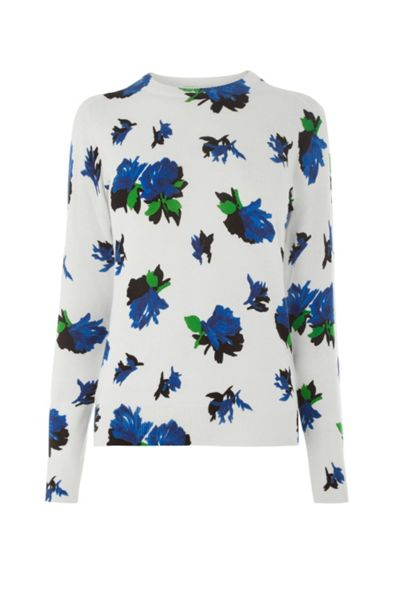 Warehouse Rose Print Jumper
