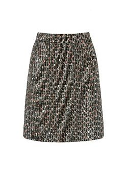 Sparkle Tweed Pelmet Skirt
