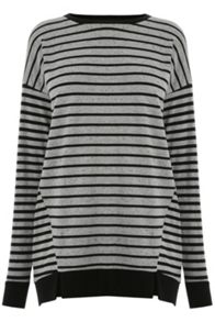 Warehouse Rib Hem Stripe Top