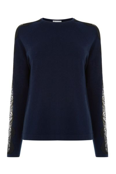 Warehouse Lace Sleeve Jumper