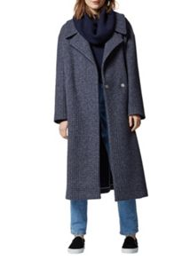 Warehouse Oversized Check Coat